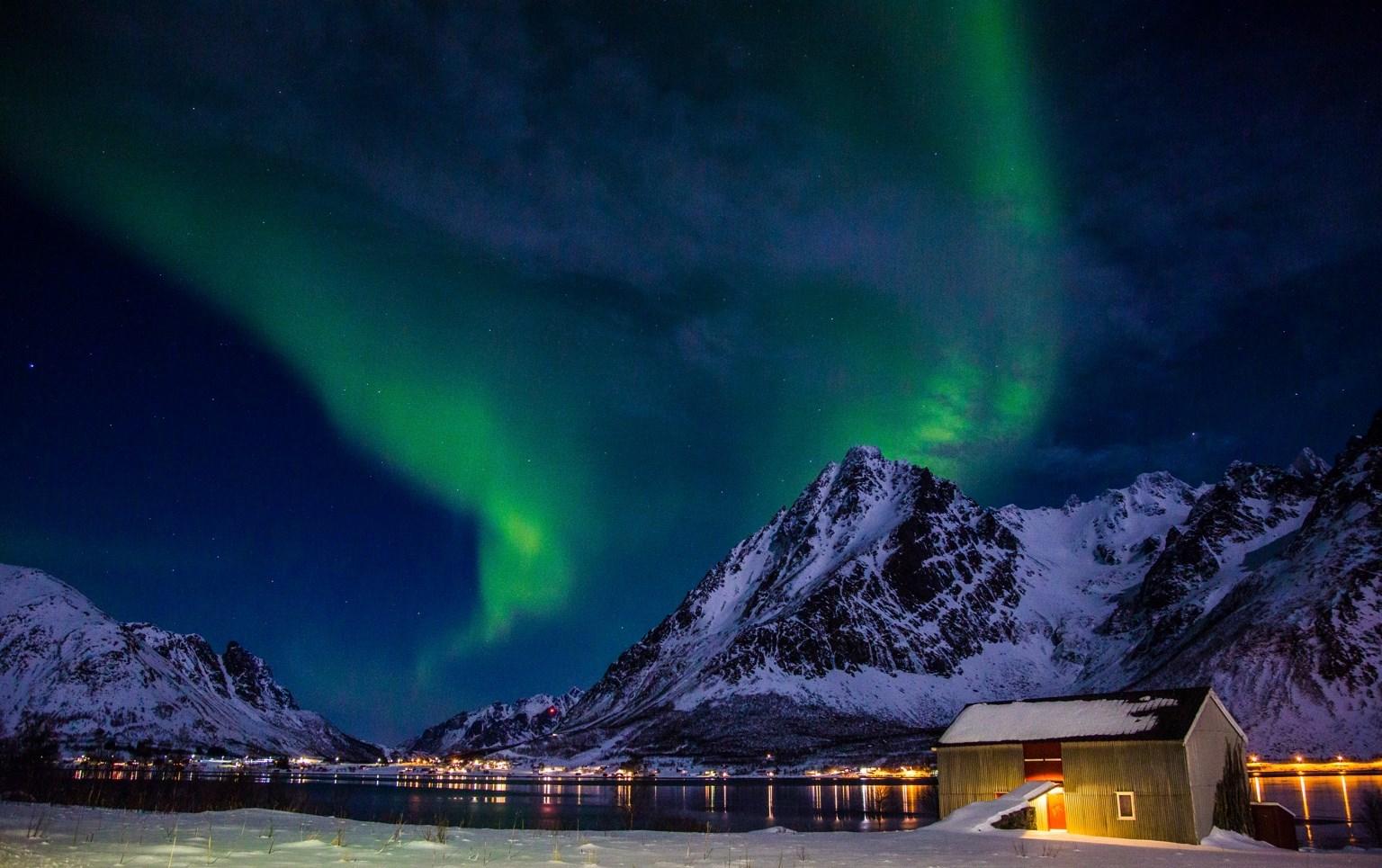 aurora Lofoten luci